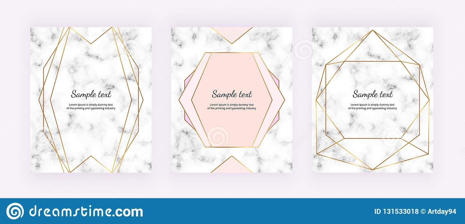 Golden geometric lines on the white marble texture. Minimalist design. Modern background for invitation, card, banner, wedding, ba