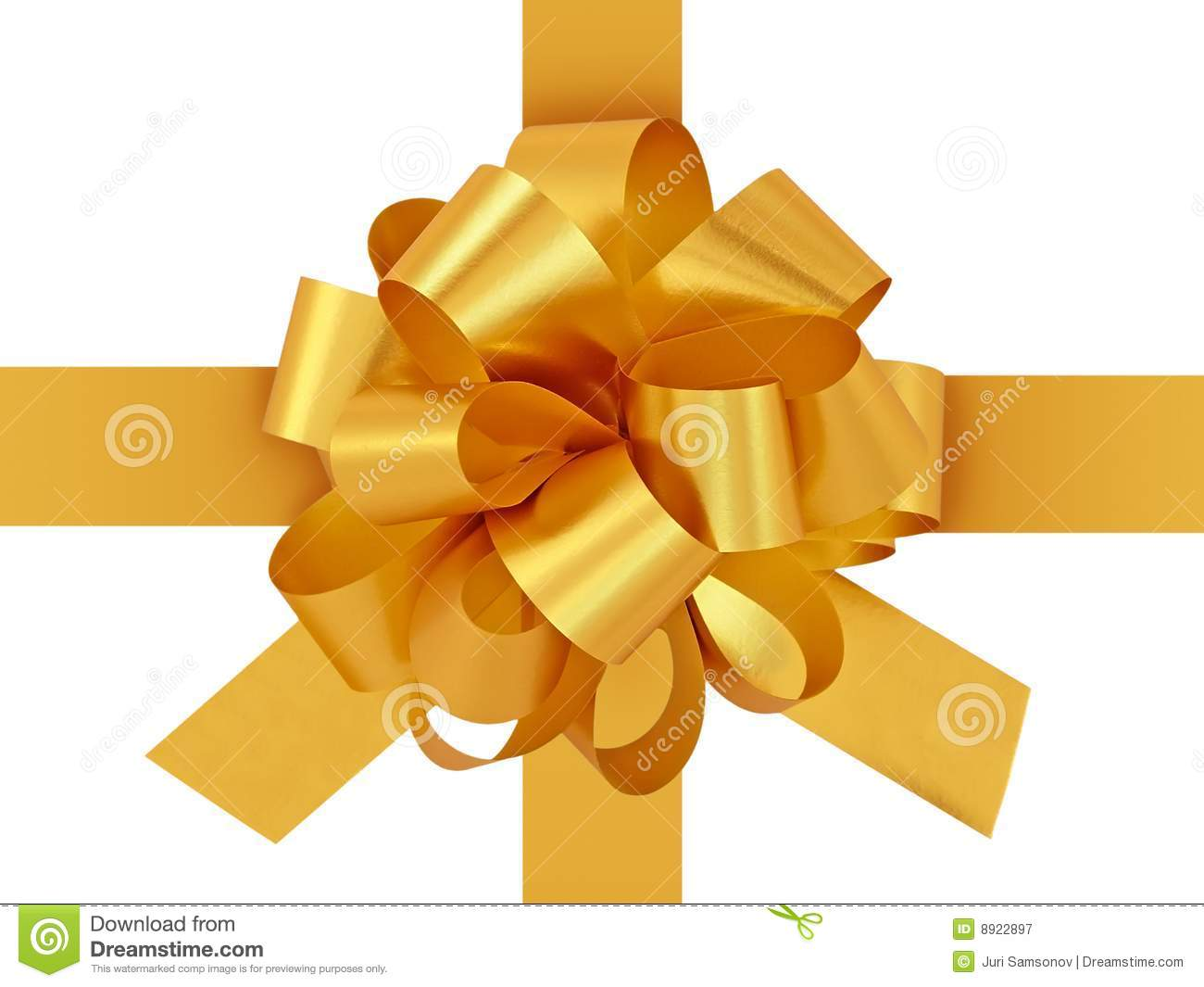 golden gift bow with ribbon stock image image of style ribbon