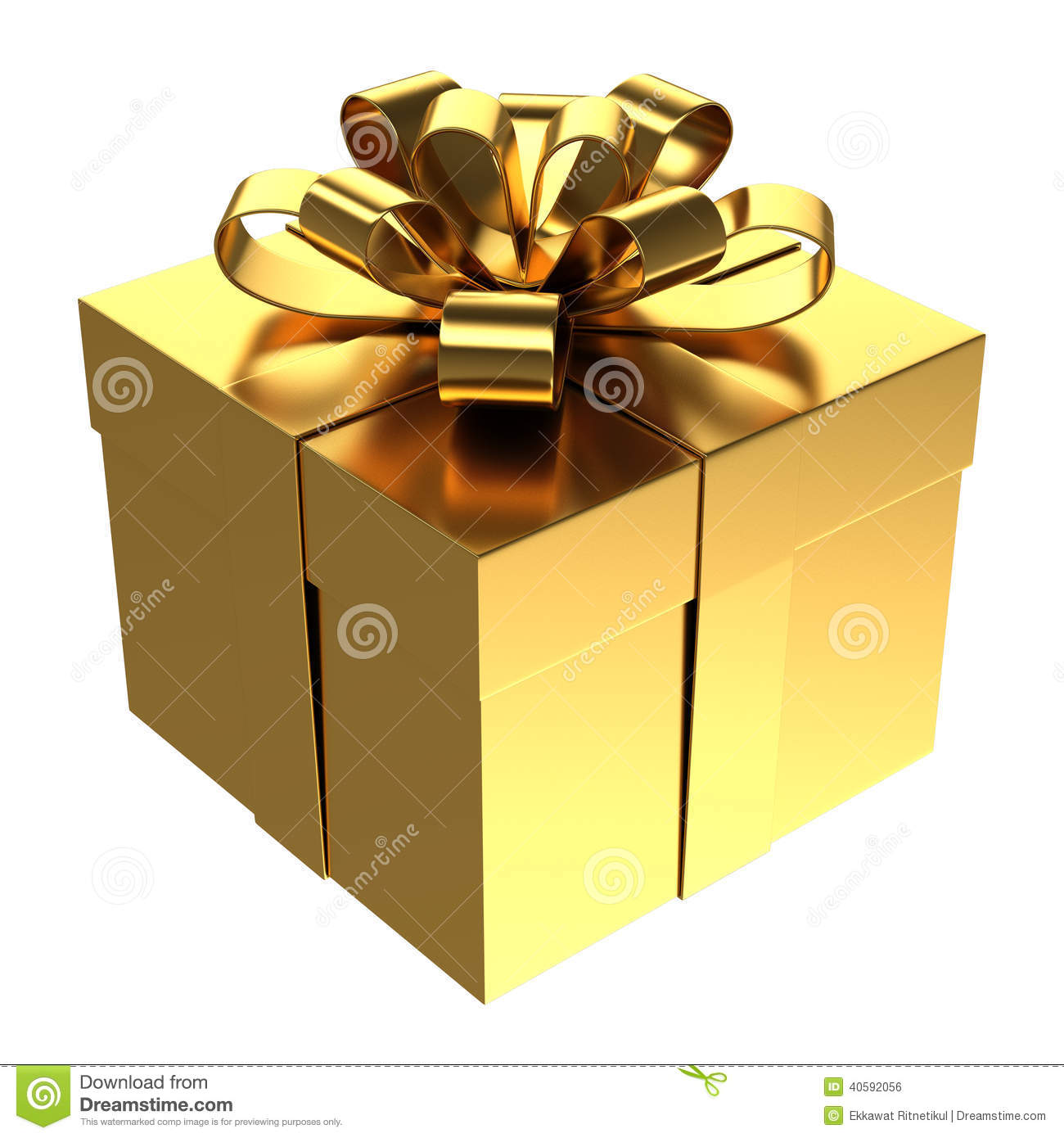 Christmas Gift Box Png.Golden Gift Box Png Transparent Background Stock Photo