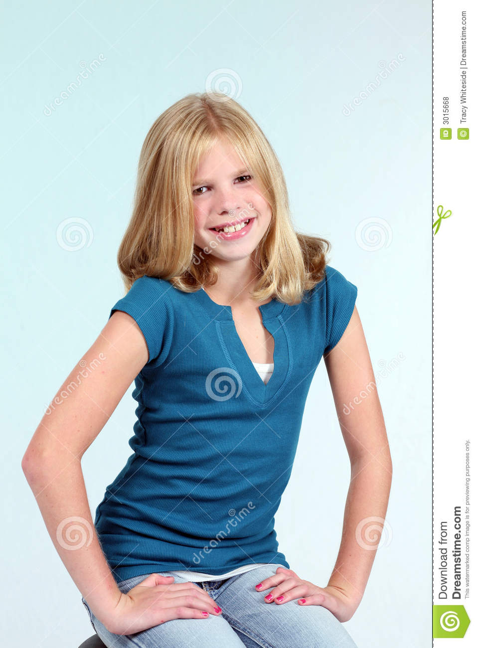 Young Pre Teen Girl Female Woman Torso Vertical Format: Golden Girl Stock Photo. Image Of Photo, Attractive