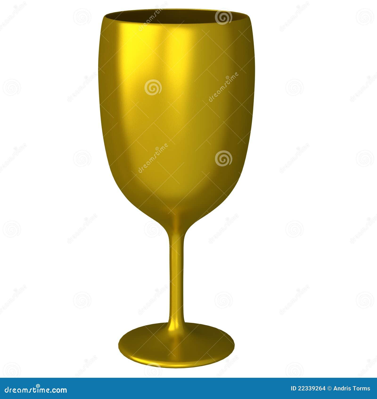 Golden glass 3d
