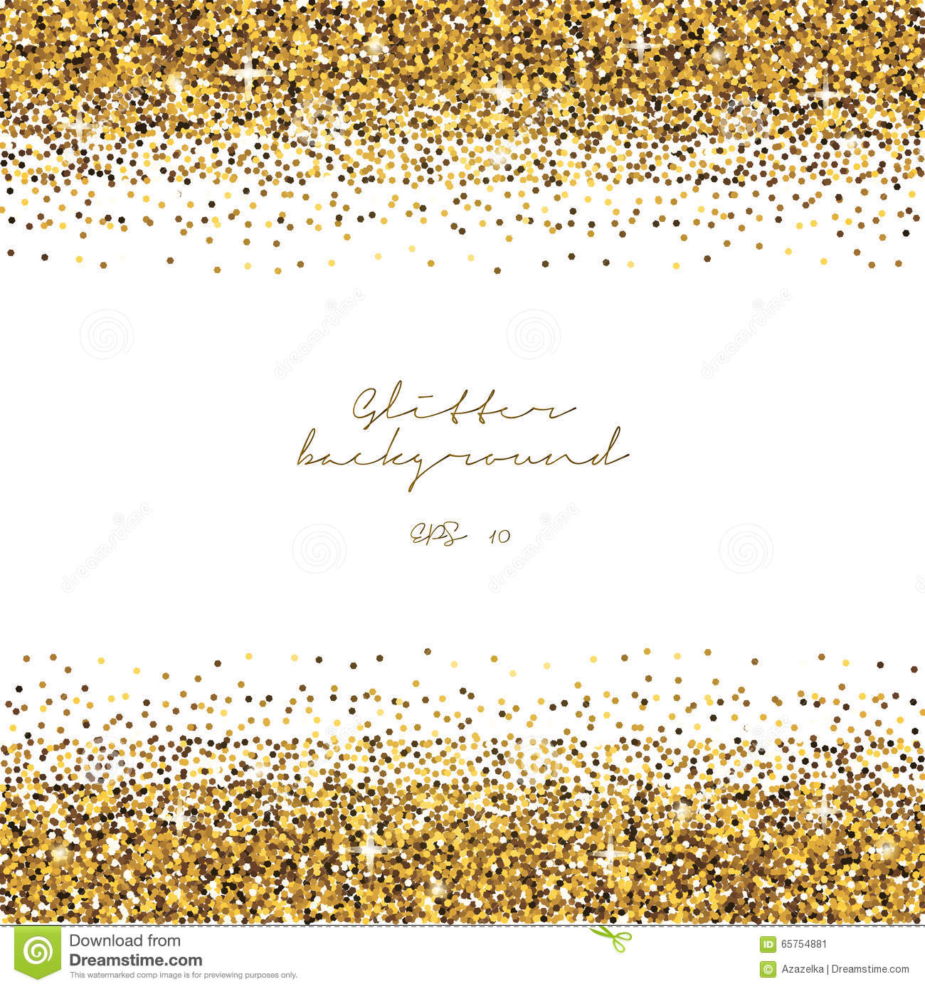 Golden Glitter Border Background. Tinsel Shiny Backdrop. Luxury Gold ...