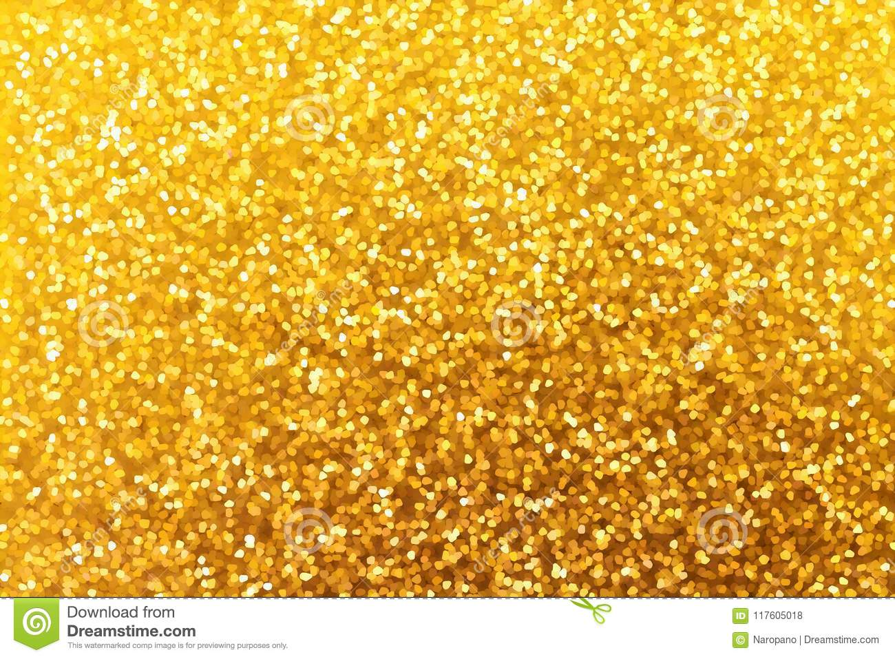 Golden glitter christmas and new year background. Texture for de