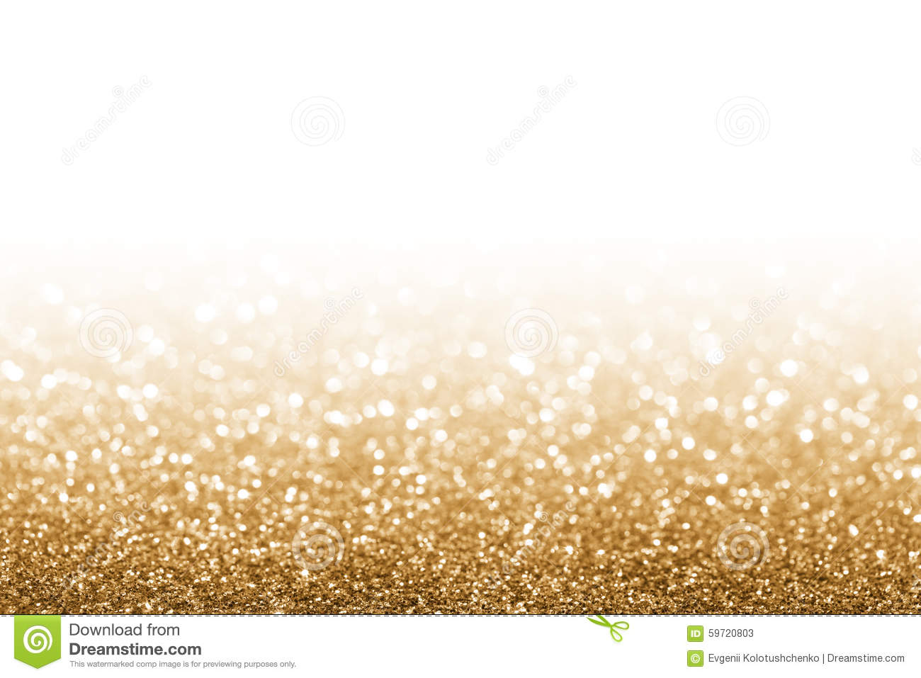 Golden defocused glitter for new year background.
