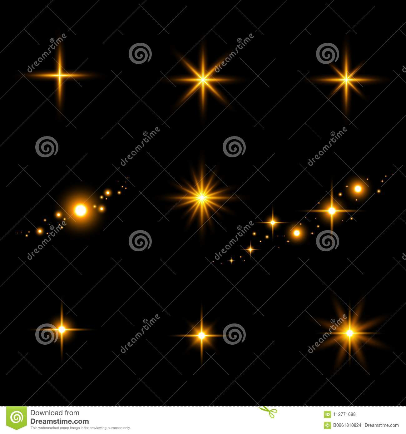 light flashes sun beams and star lights isolated on a black b stock photo image of festive. Black Bedroom Furniture Sets. Home Design Ideas