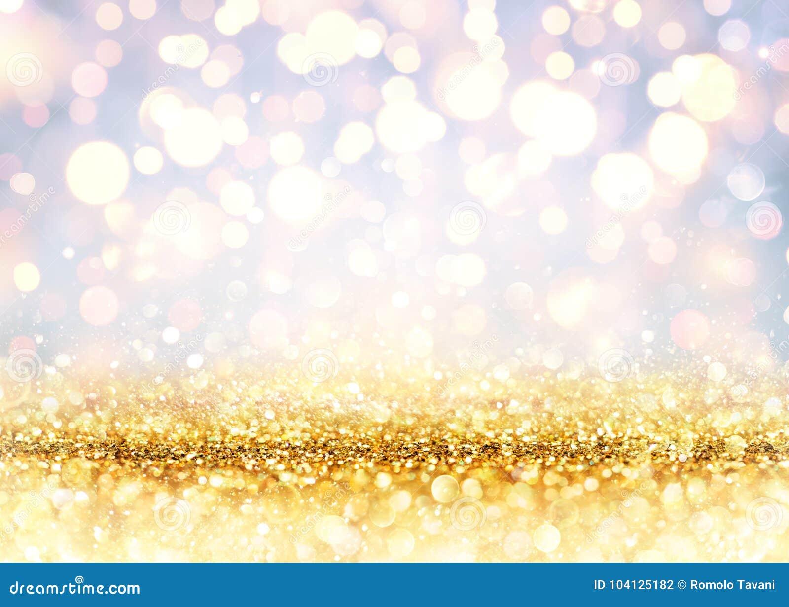 Golden Glitter On Shiny backdrop