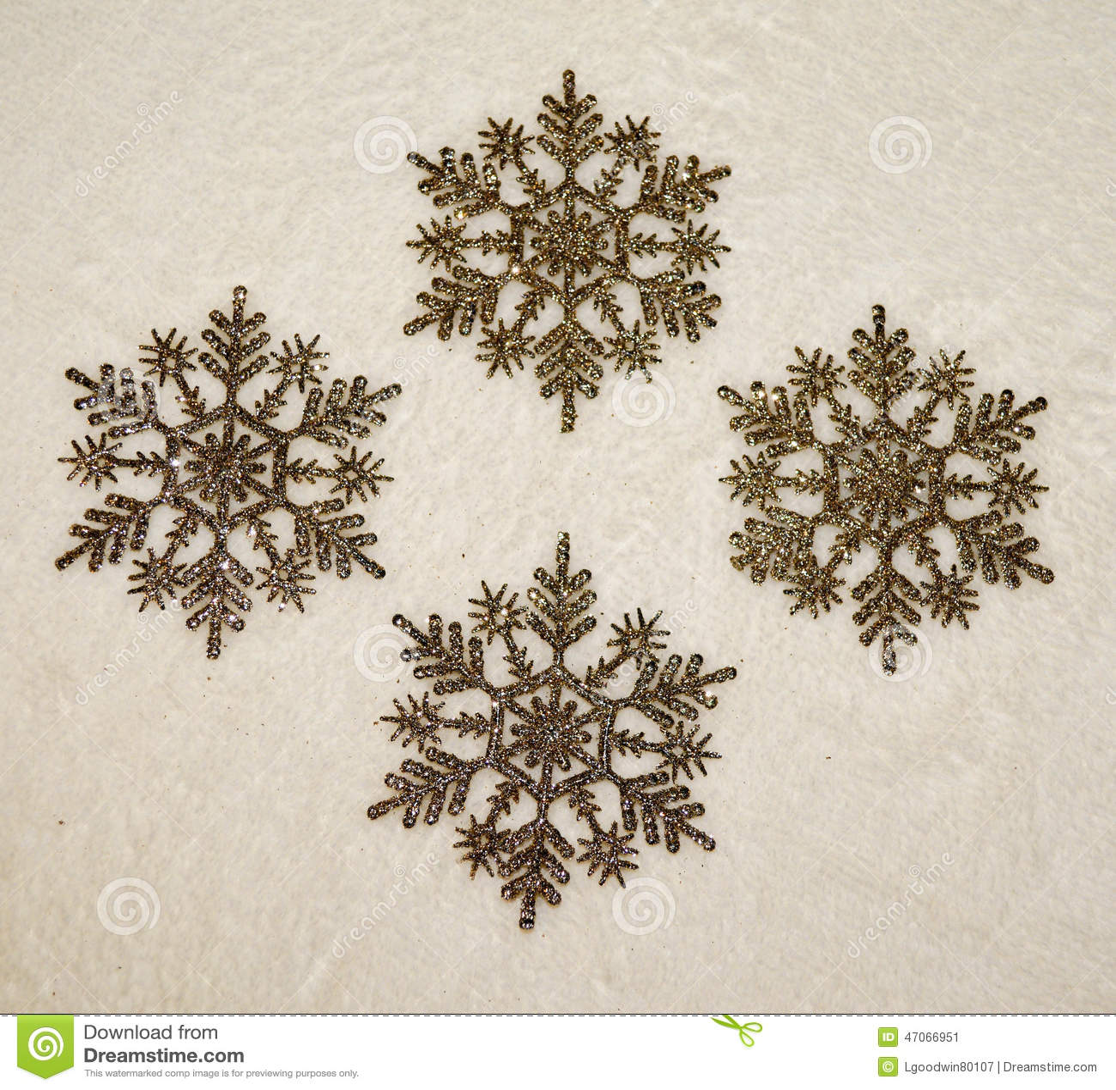 Snowflakes ornaments - Golden Glitter Snowflakes Ornaments