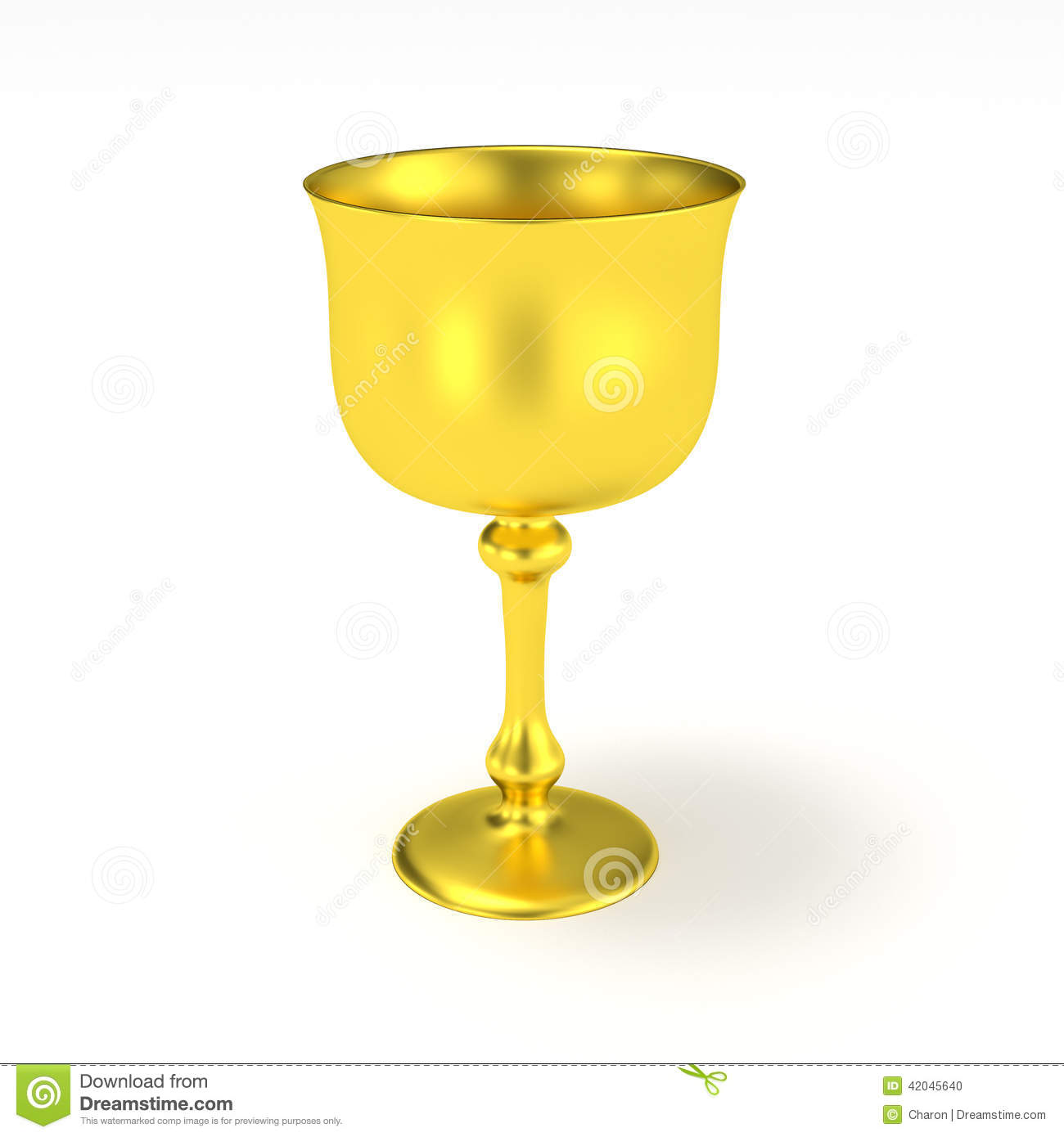 Golden Goblet Holy Grail Gold Cup Stock Illustration - Image: 42045640