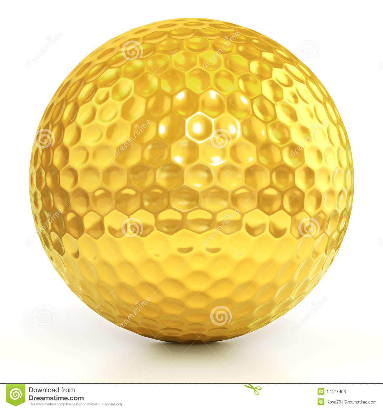 Golden Golf Ball Isolated Over White Royalty Free Stock Image - Image ... Golf Ball On Tee Clipart