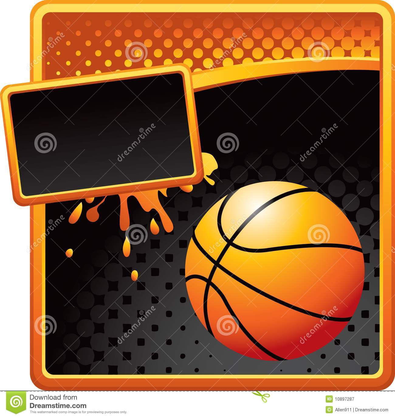 Certificate template in basketball sport theme with blue.
