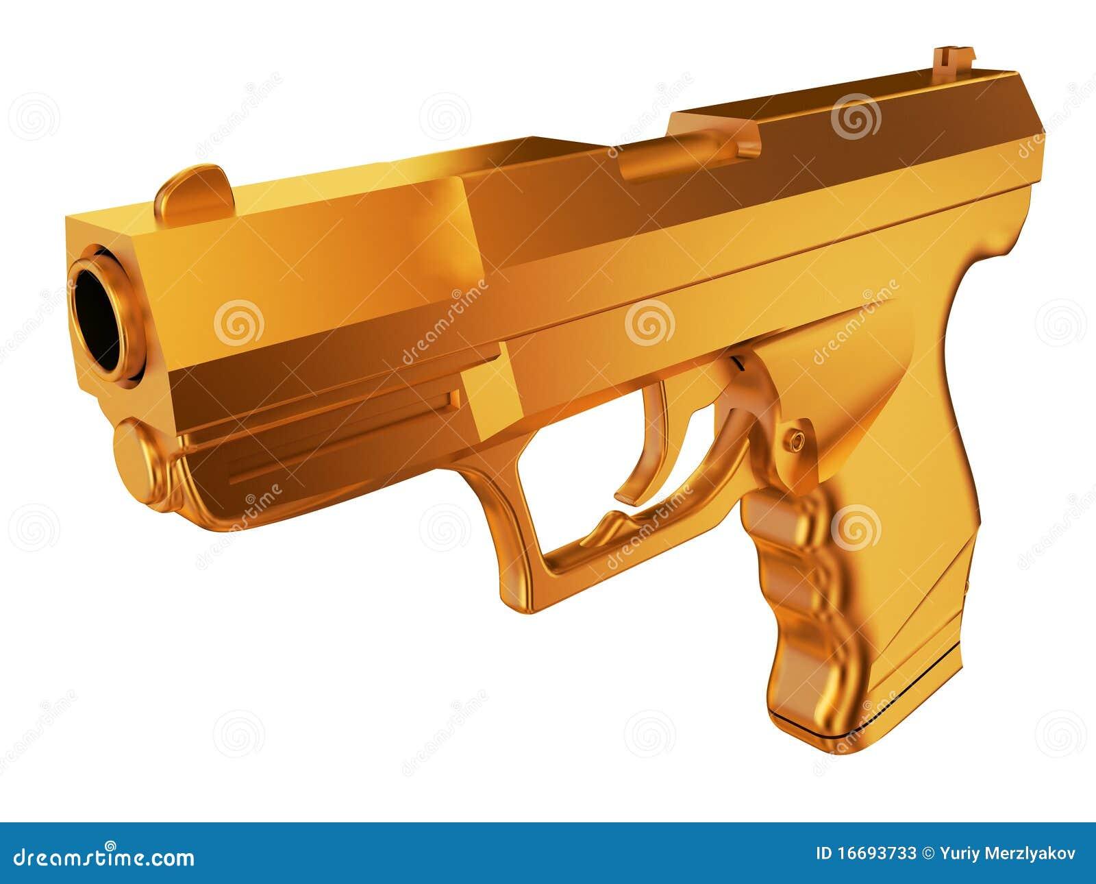 Golden gun. Semi-automatic pistol is a type of handgun. Computer ...