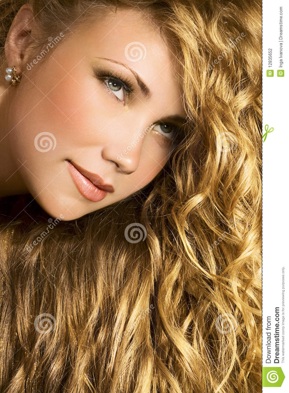 Golden Hair Stock Photography - Image: 12835652