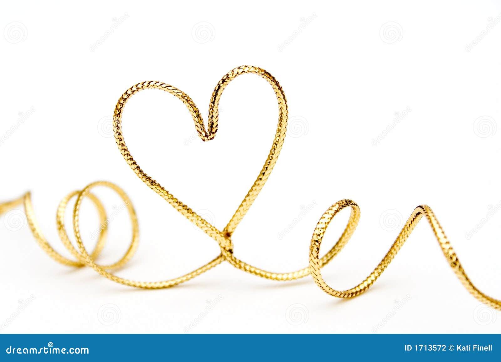Golden heart stock photo. Image of gold, romance ...