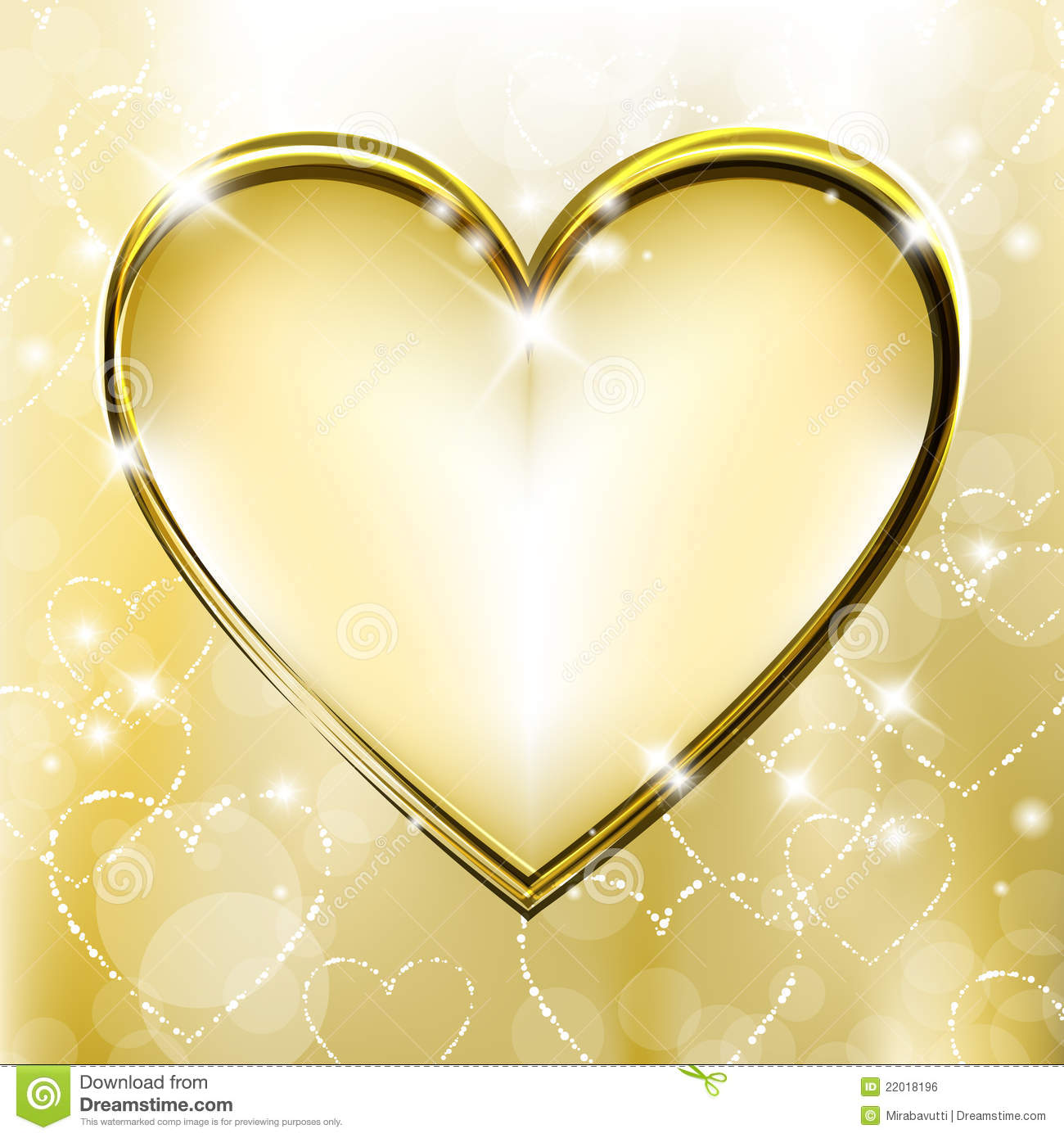 Golden Heart Royalty Free Stock Image - Image: 22018196