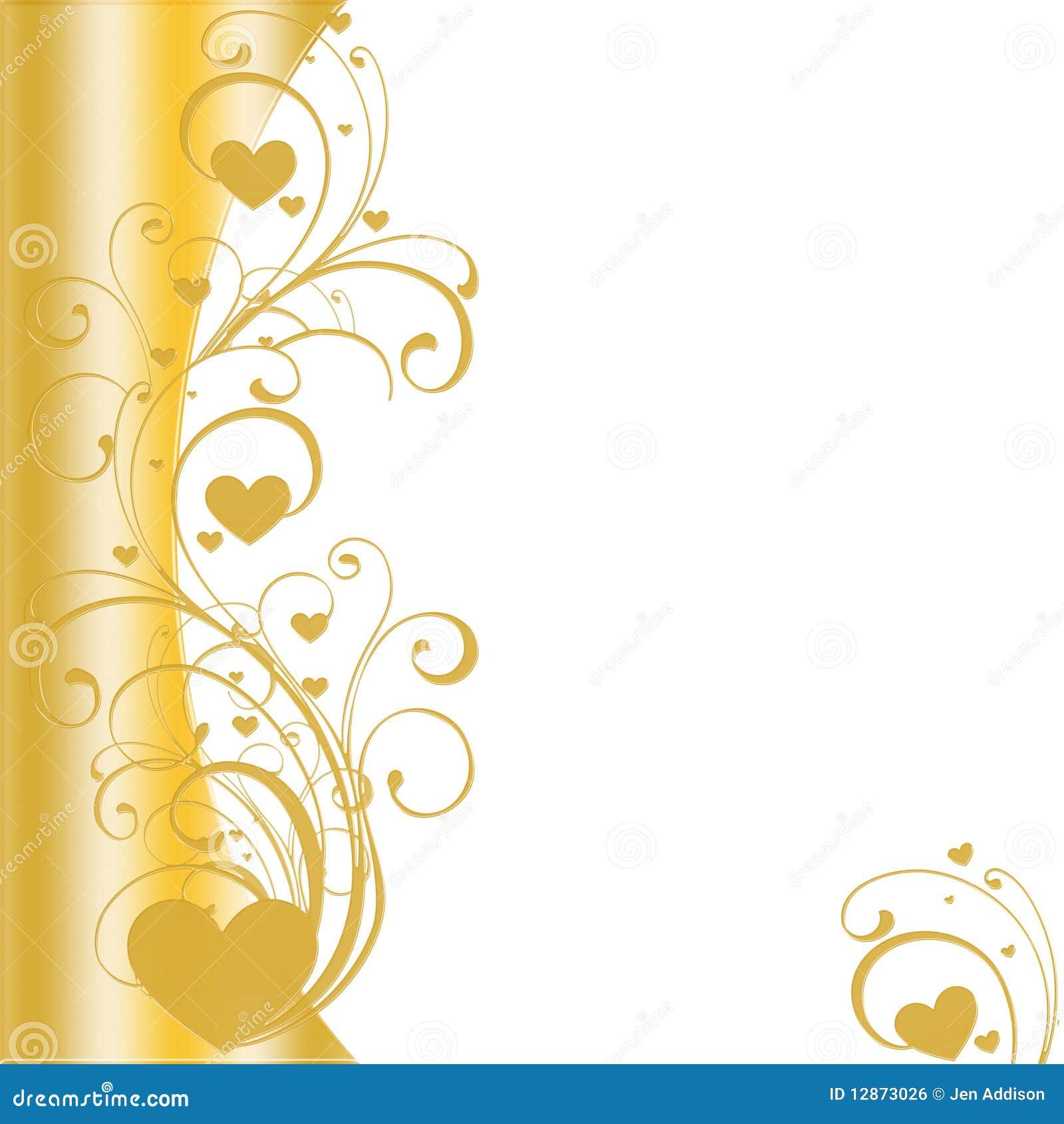 Golden heart border vector stock vector illustration of border golden heart border vector stopboris Gallery
