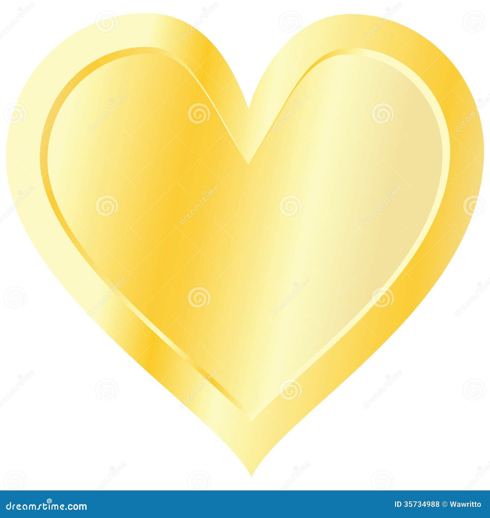 Royalty Free Stock Photos Golden Heart Isolated White Background Illustration Image35734988 on Romantic Frame Transparent