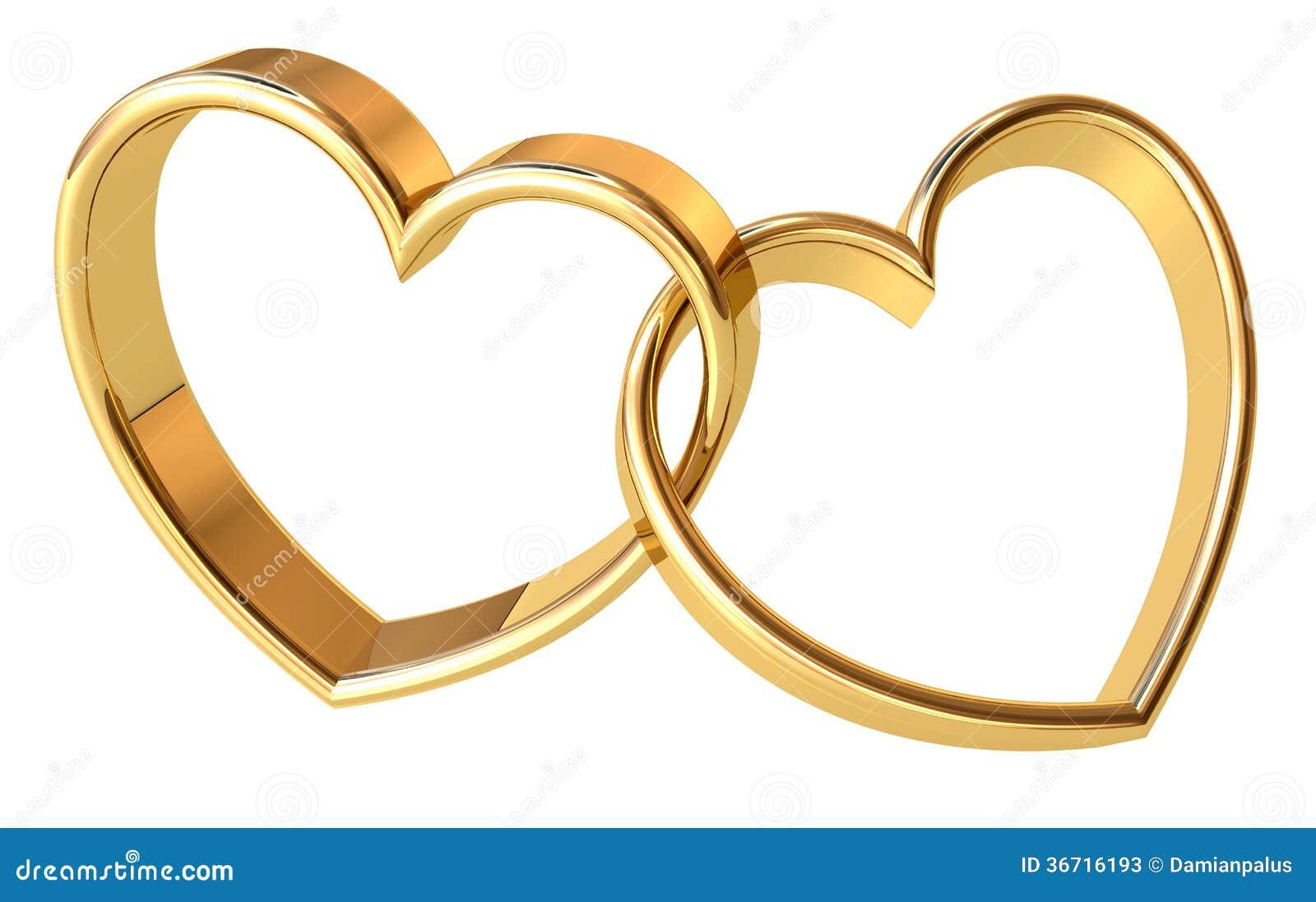 Valentines golden hearts background. Power of Love.