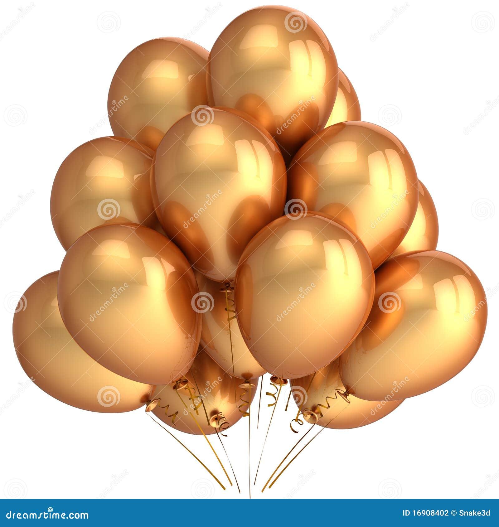 golden helium balloons  hi