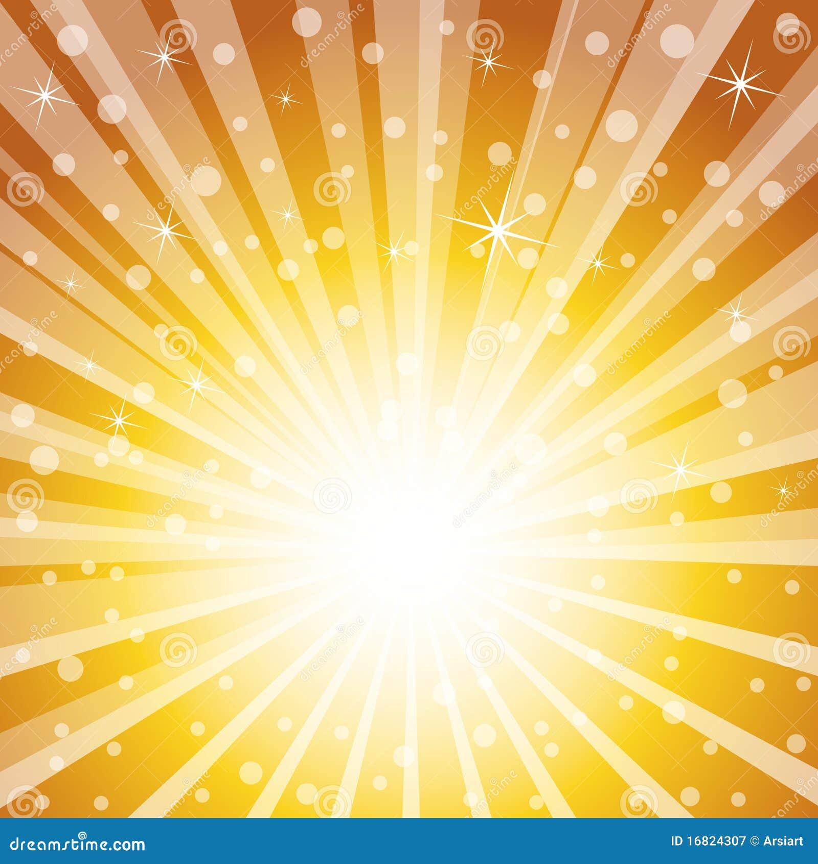 golden holiday magic background  stock illustration