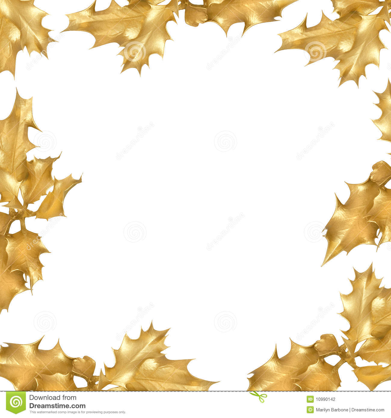 golden holly leaf border stock photography image 10990142 Merry Christmas and Happy New Year Clip Art in Burgandy Merry Christmas and Happy New Year Banner
