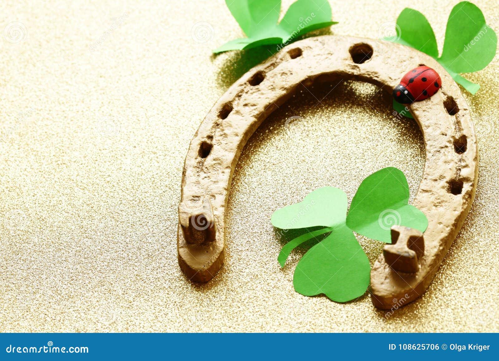 Golden horseshoe symbol of good luck for st patricks day stock golden horseshoe symbol of good luck for st patricks day biocorpaavc Choice Image