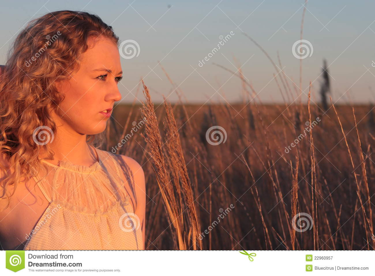 Golden Hour Portrait Royalty Free Stock Photography
