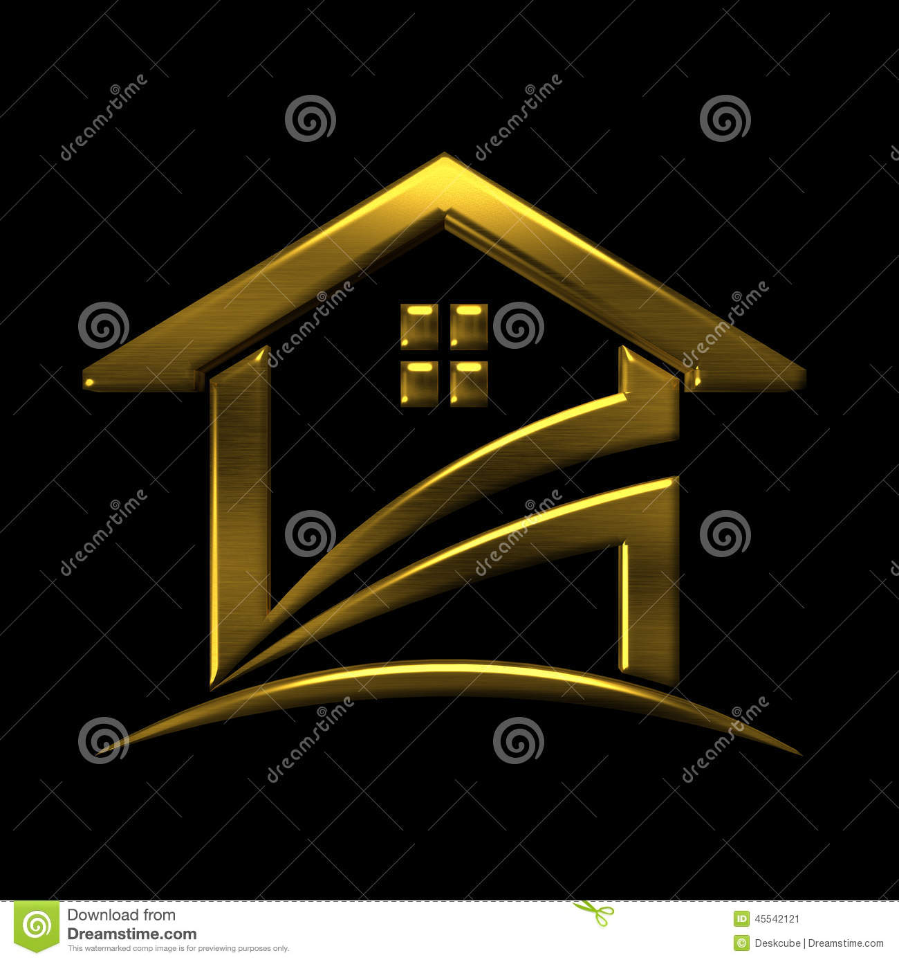 Golden House Logo. VIP Design Element Stock Illustration ...