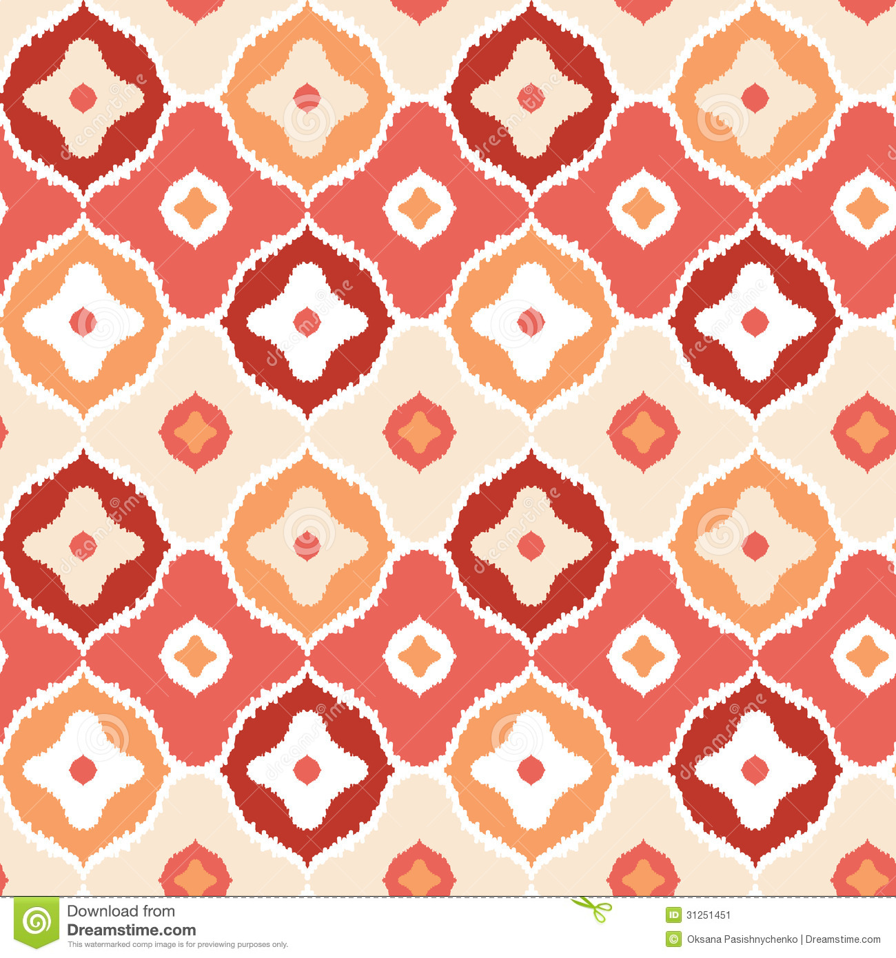 Golden ikat geometric seamless pattern background stock - Ikat muster ethno design ...