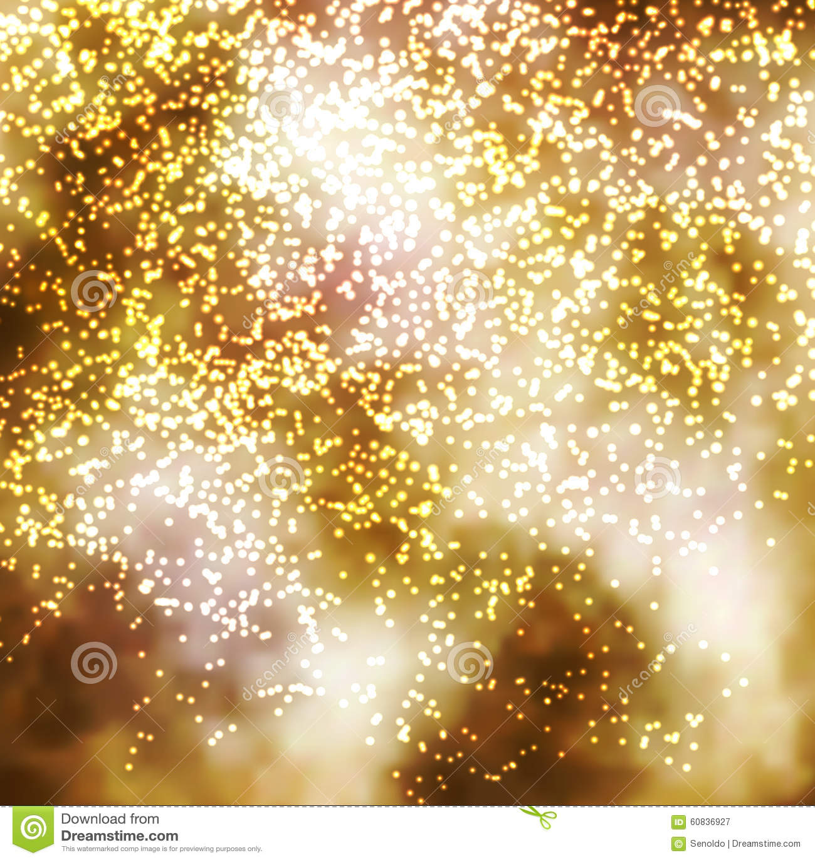 Golden Incandescent Glittering Particle Background Illustration ...