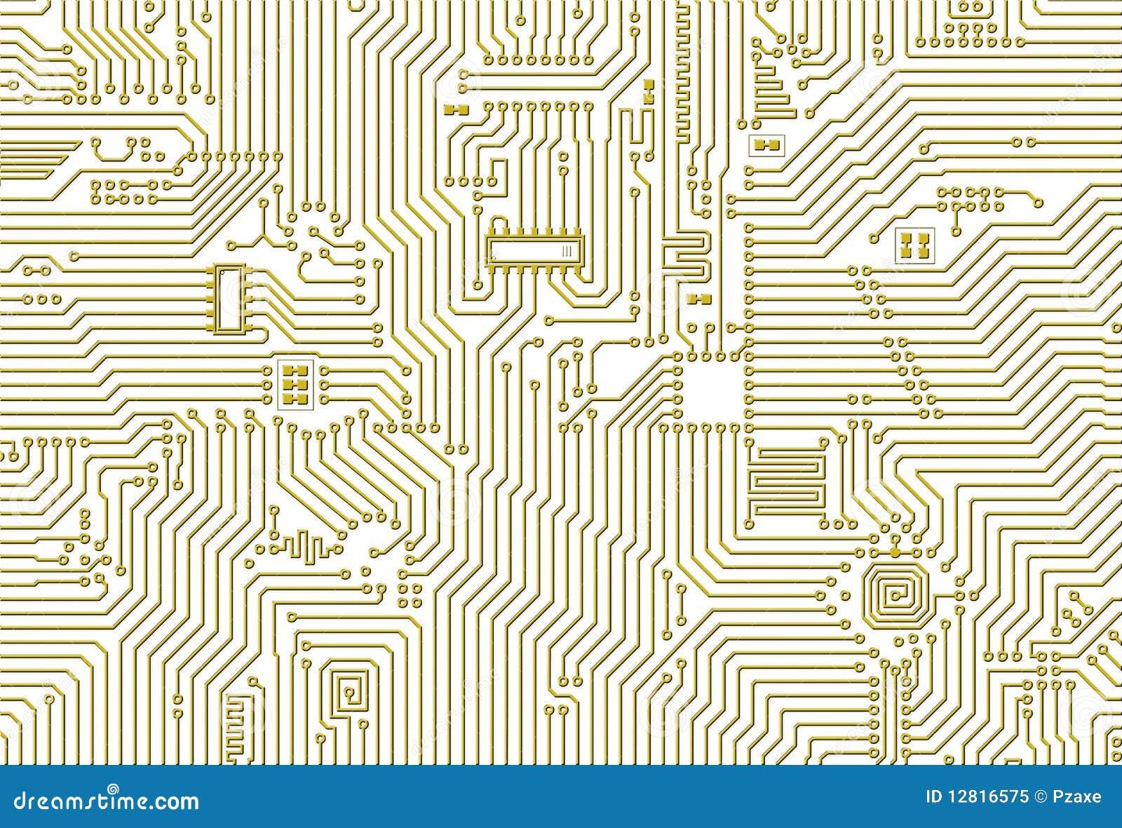 golden industrial circuit board pattern royalty free stock