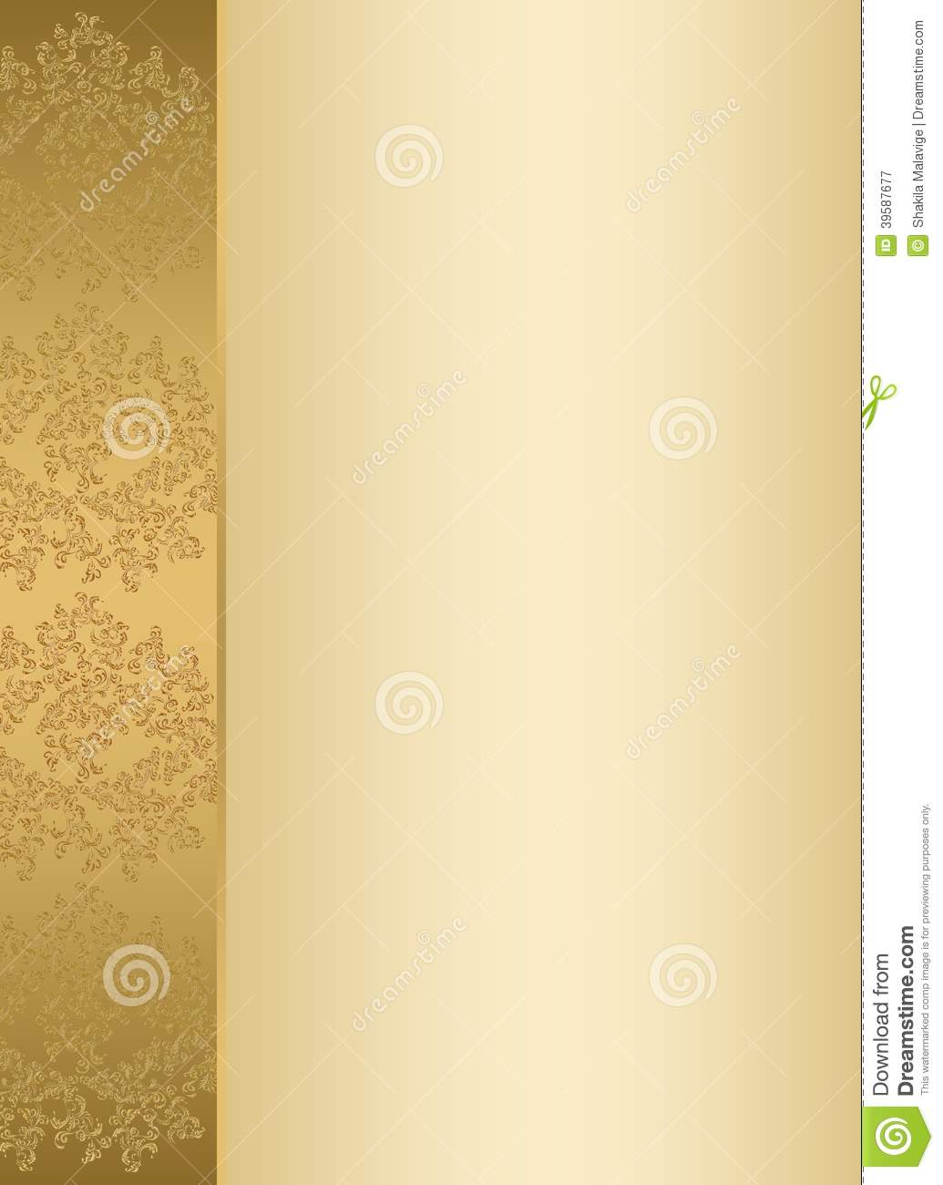 Golden Invitation Card Template Photo Image 39587677 – Template Invitation Card