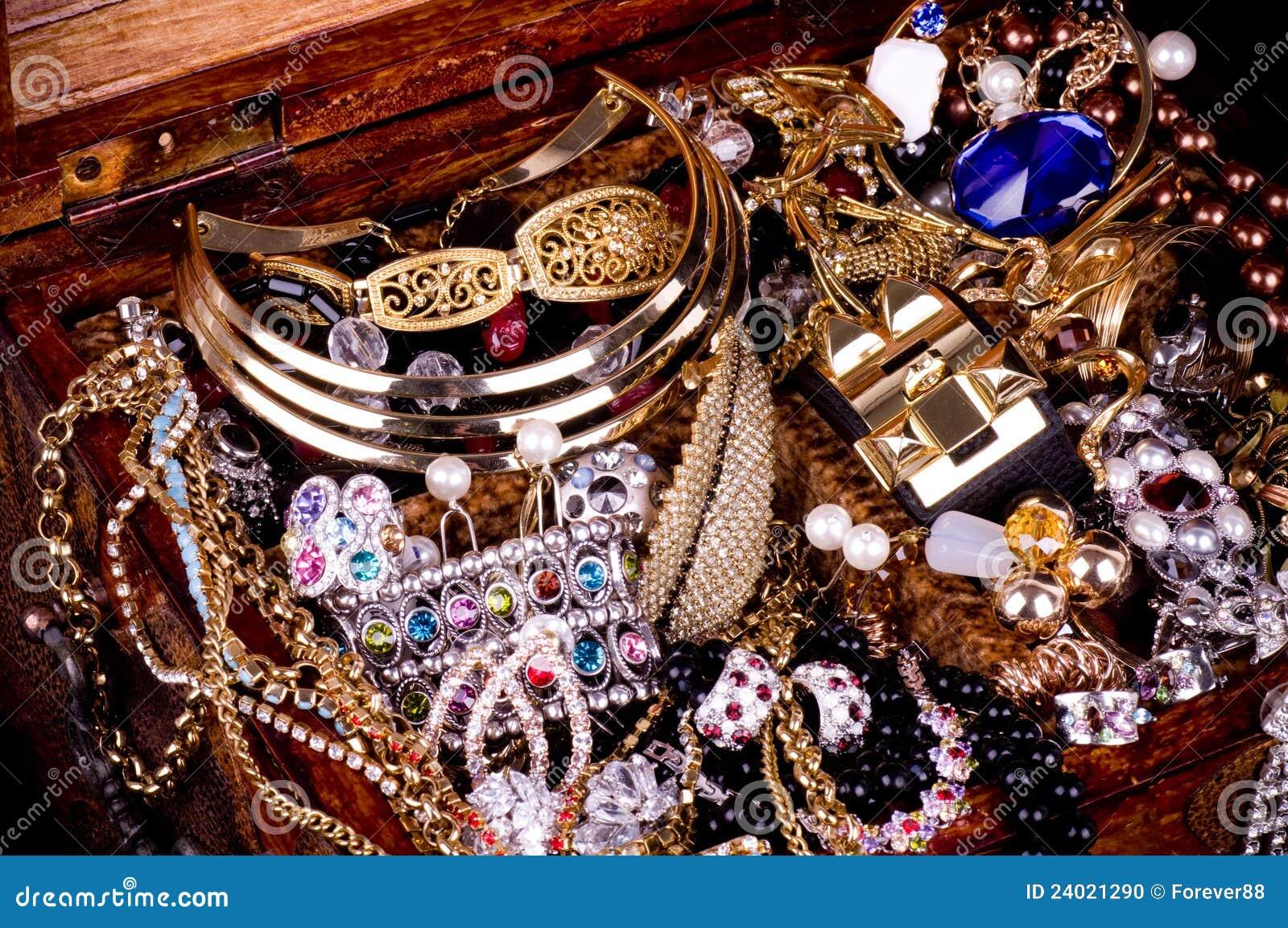 Golden Jewelry Background Stock Photo Image 24021290