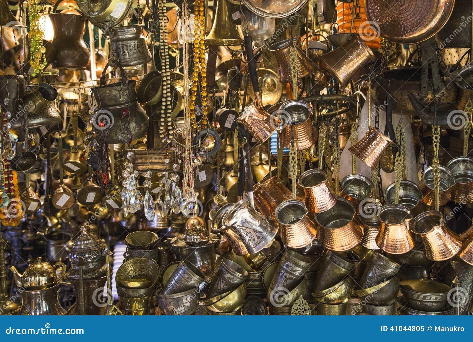 Golden jewelry in the grand bazaar