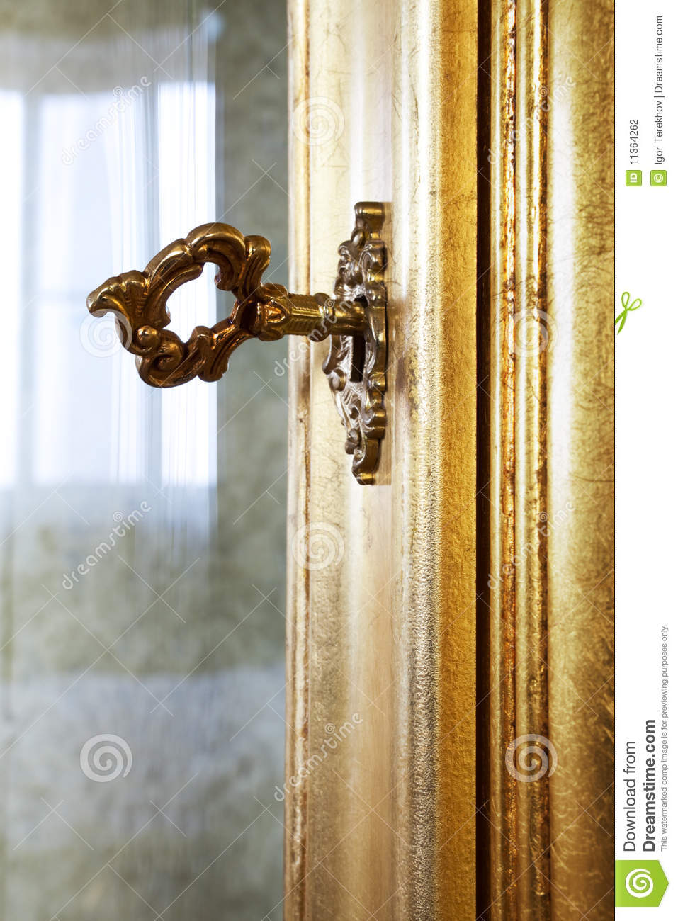 Golden Key Stock Photo Image Of Ornate Home Furniture