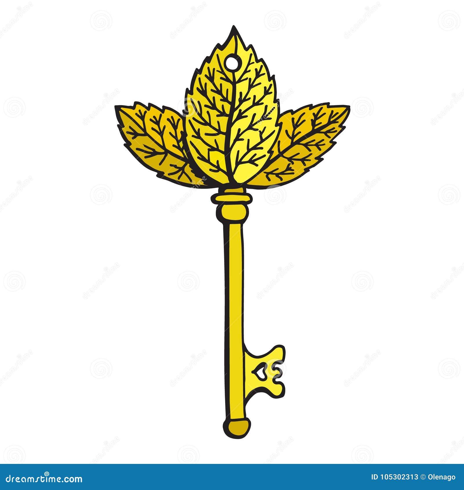 Vector Key Illustration: Golden Key Illustration Stock Vector. Illustration Of