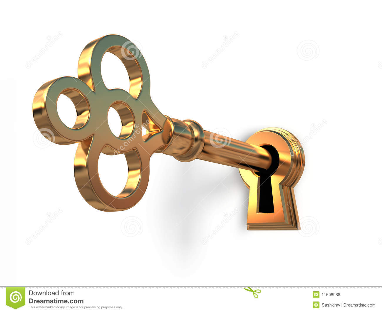 With golden key 3d rendering plan concept with golden key 3d rendering - Golden Key In Keyhole Royalty Free Stock Photos Golden Key Keyhole Render