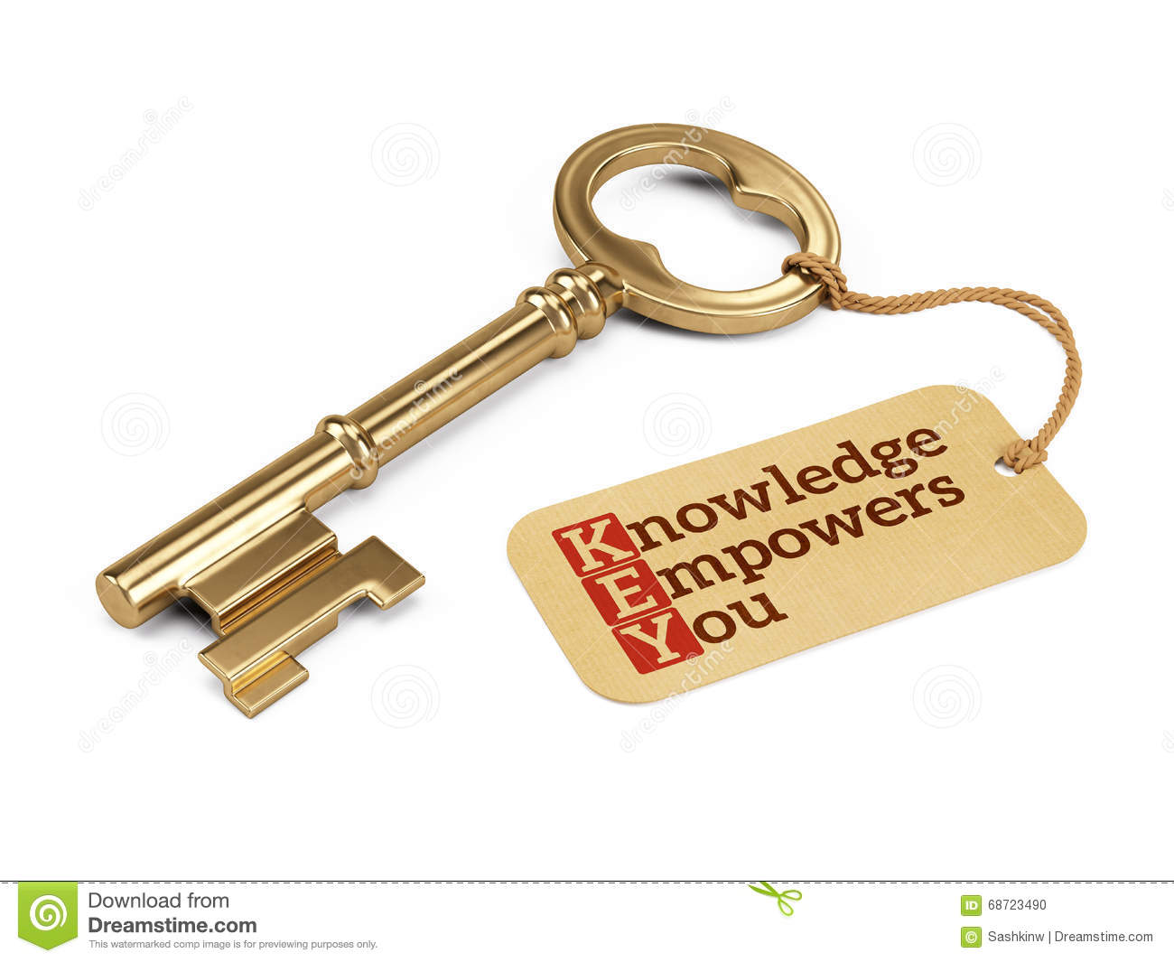 With golden key 3d rendering plan concept with golden key 3d rendering - Empowers Golden Key Knowledge Tag You Economy Concept Render