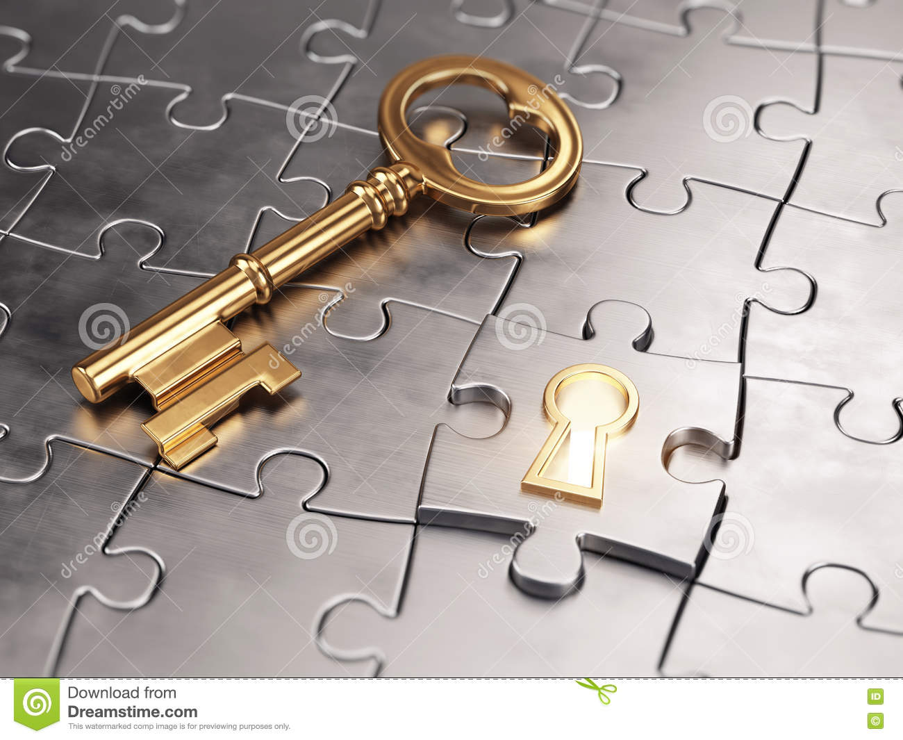 Golden key and puzzle stock illustration image 76695763 for 16 door puzzle solution