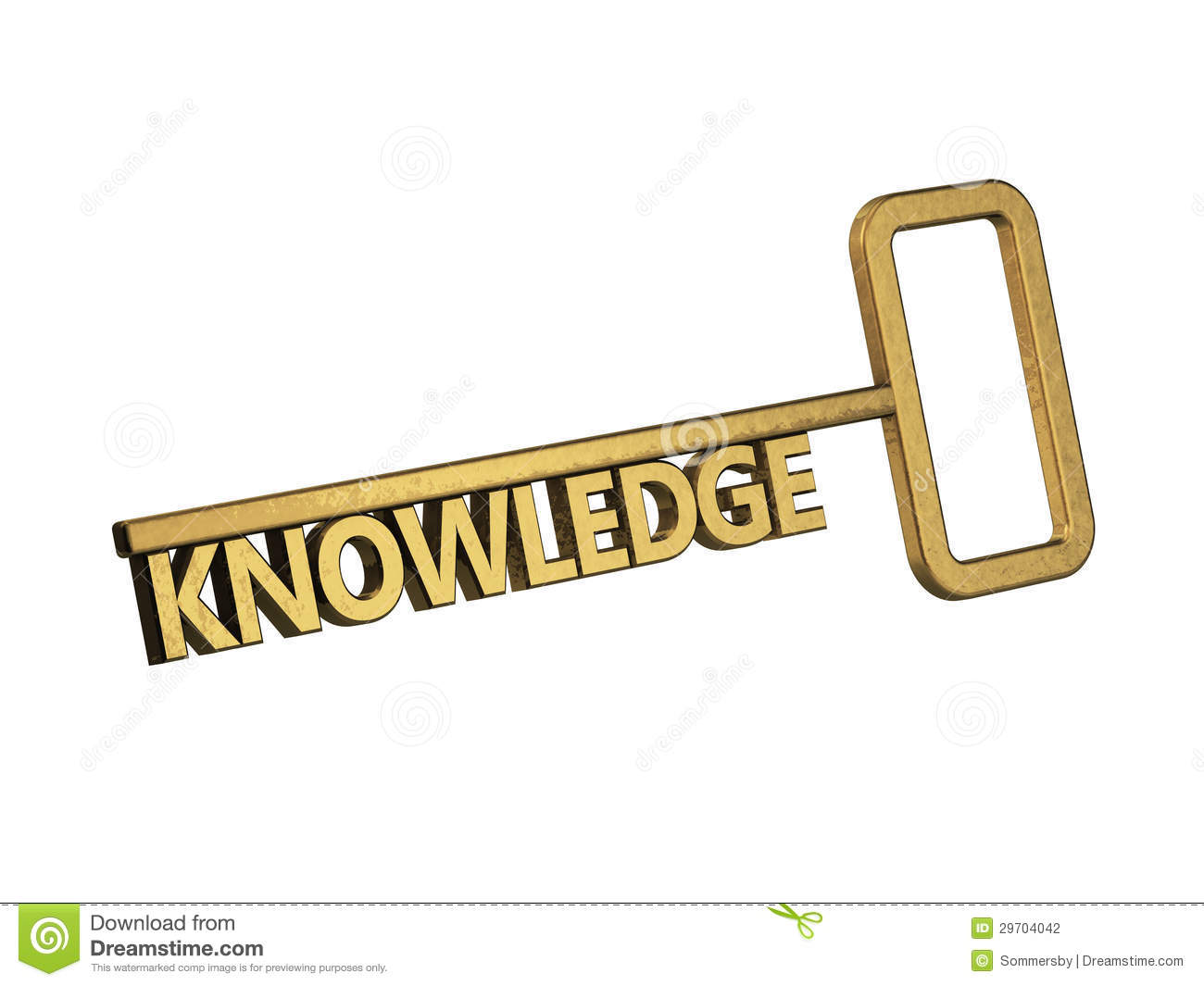 Golden Key With Word Knowledge Stock Photography - Image ...
