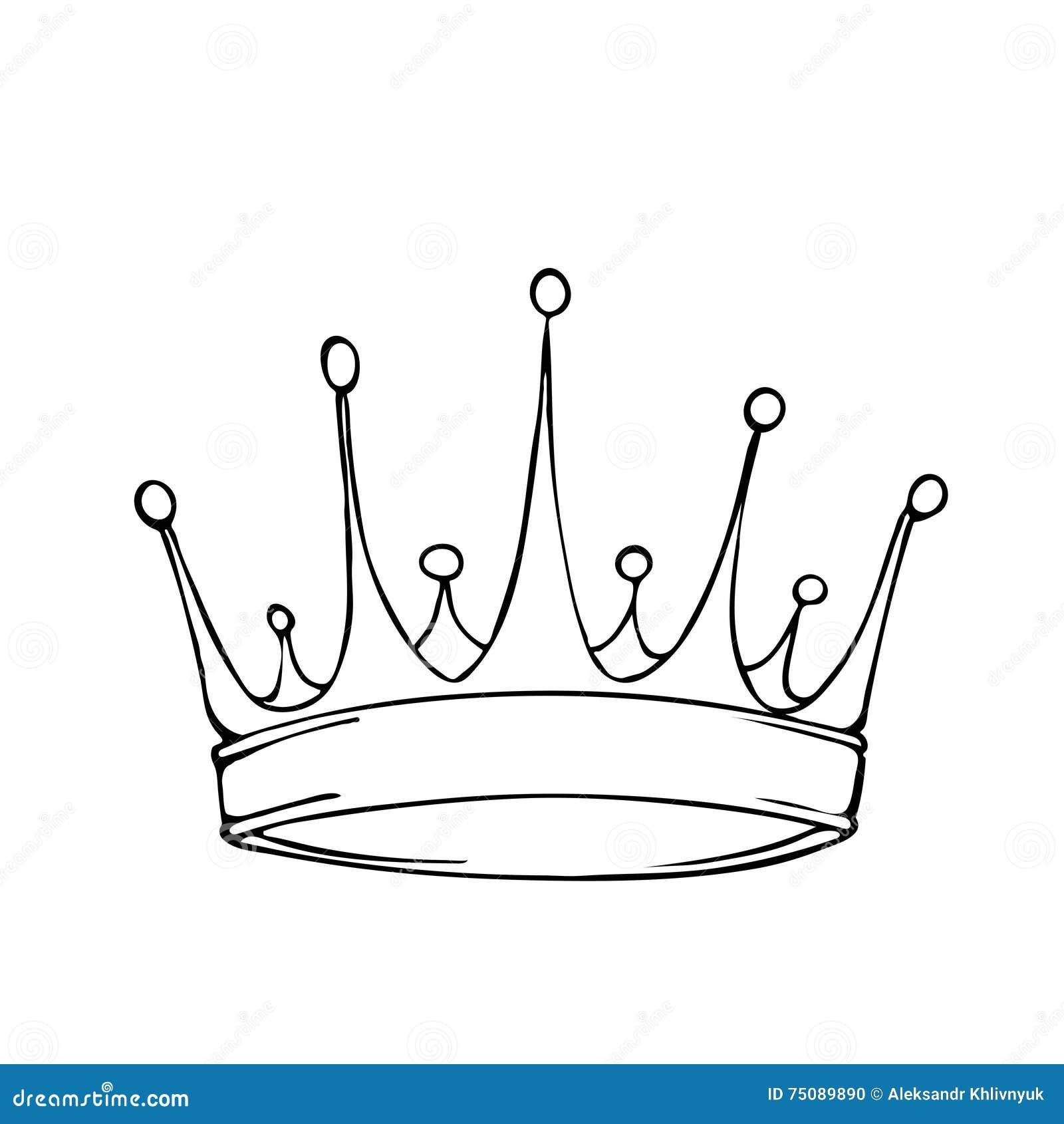 Royal crown coloring page