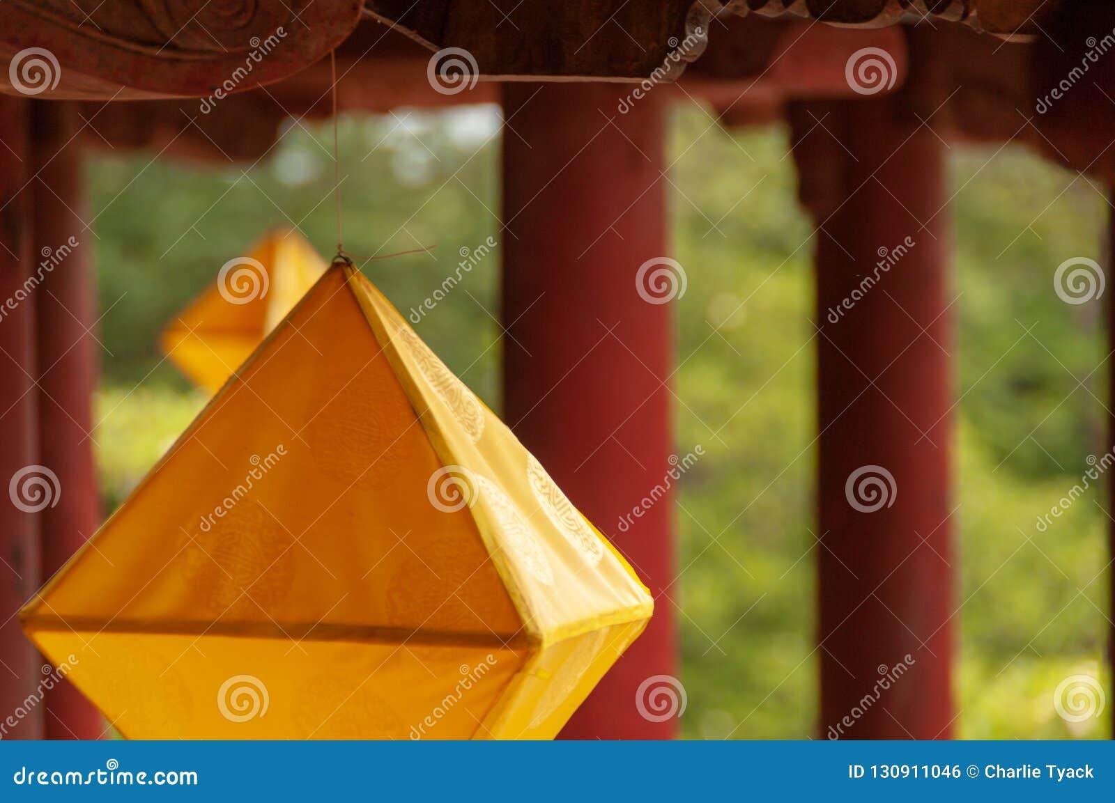Diamond-shaped lanterns in the Forbidden City, Hue, Vietnam
