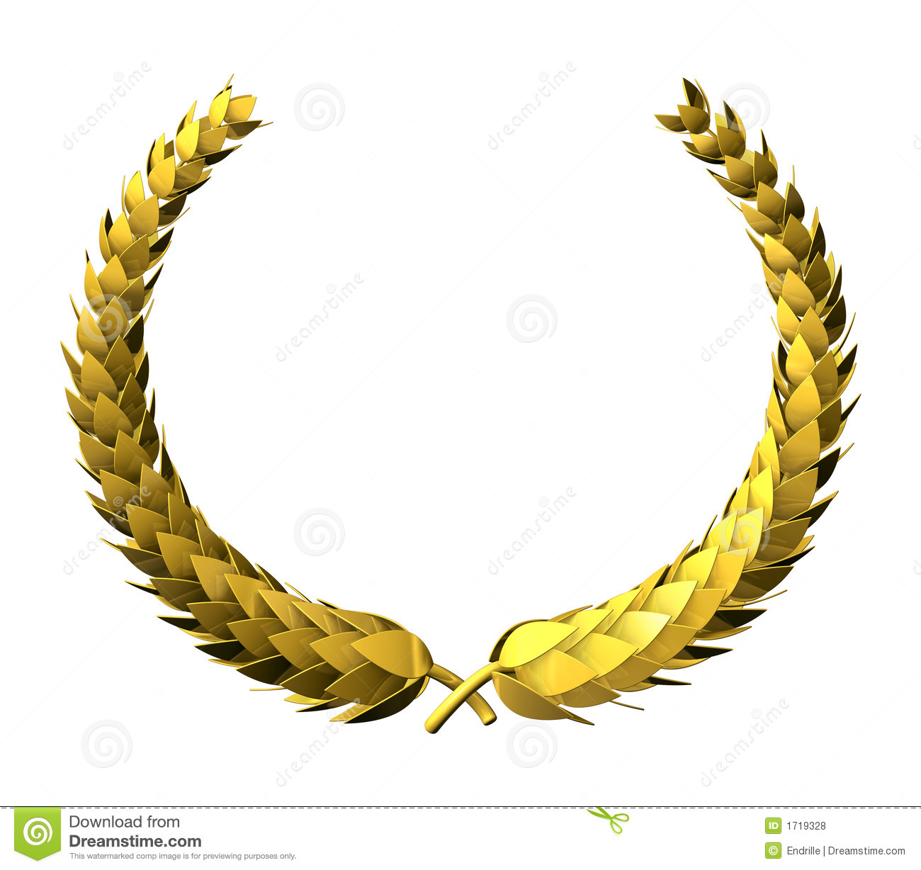 Golden Laurel Wreath Royalty Free Stock Photos Image
