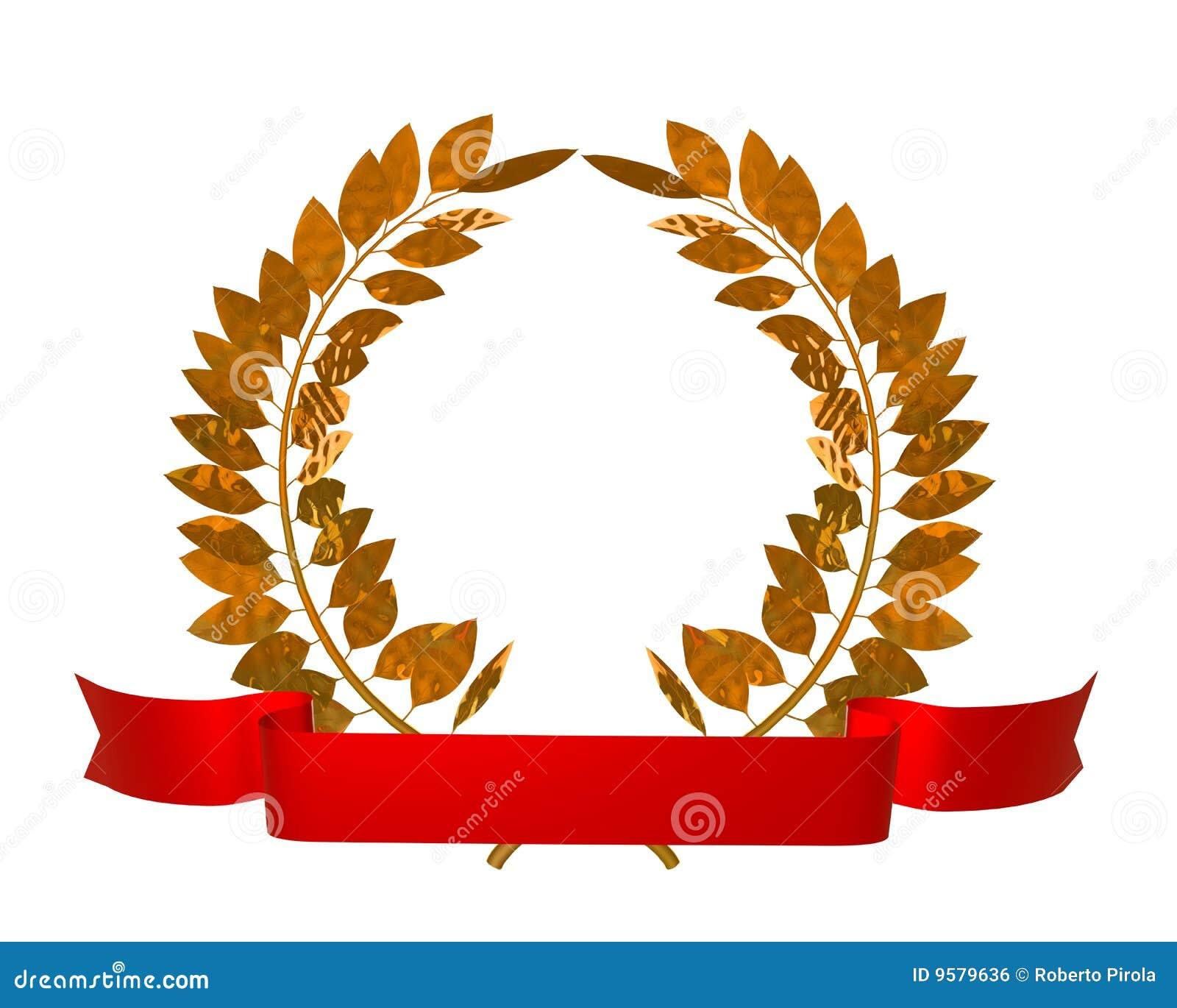 Golden laurel wreath royalty free stock image image 9579636