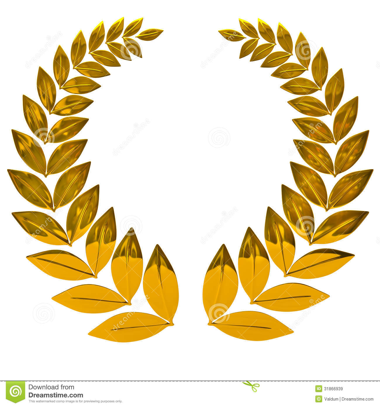 Golden laurel wreath stock illustration illustration of for Laurel leaf crown template