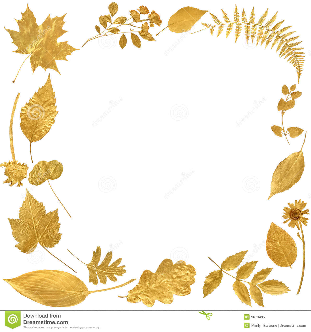 Golden Leaf Border Royalty Free Stock Photo - Image: 9679435