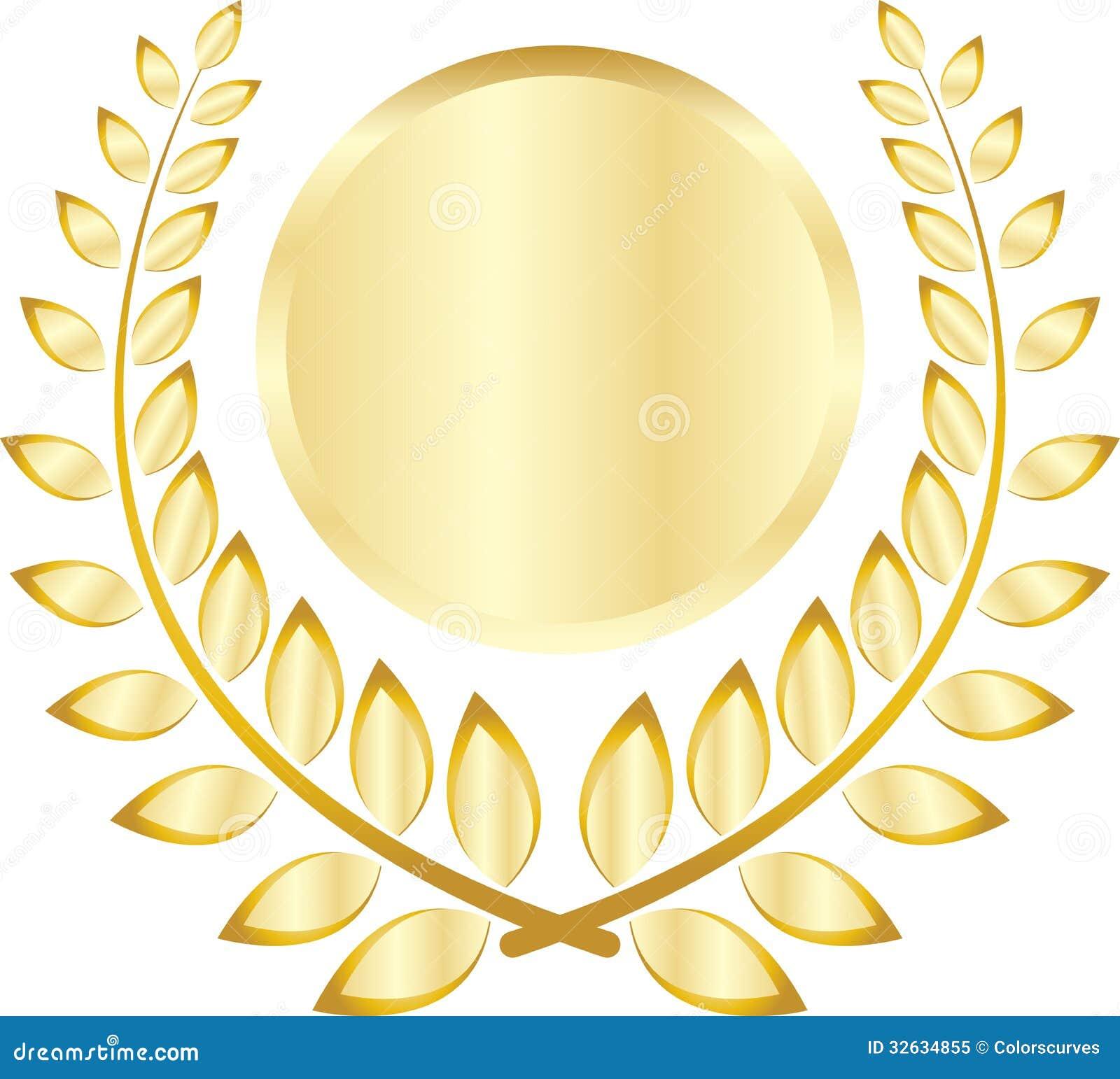 golden leaf crest royalty free stock photo image 32634855