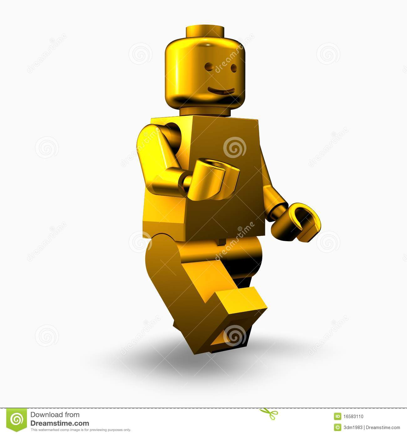 Golden Lego Man Editorial Image - Image: 16583110