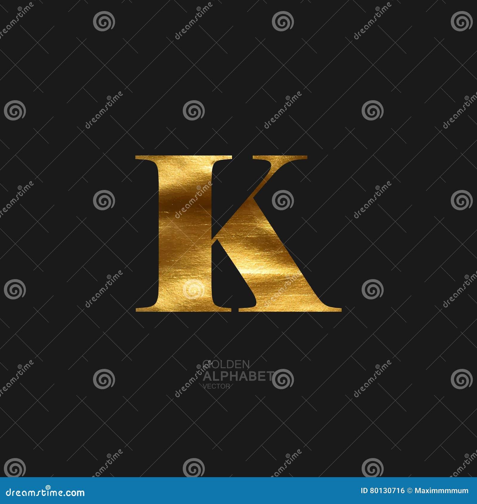 Golden letter K