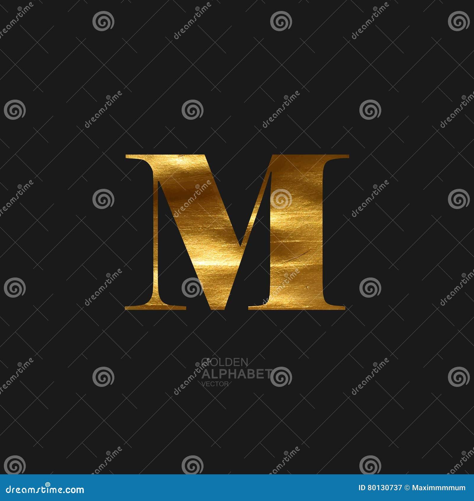 Golden letter M