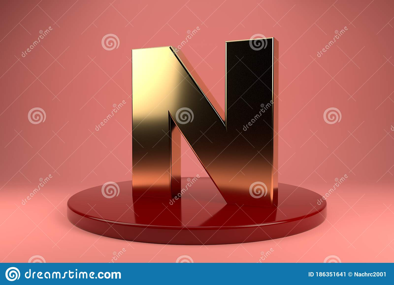 Golden Letter N Uppercase Wallpaper 3d Rendering 3d Illustrator Stock Illustration Illustration Of Business Artistic 186351641